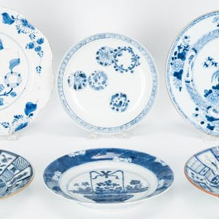 6 items Blue and White Porcelain- Asian and Delft