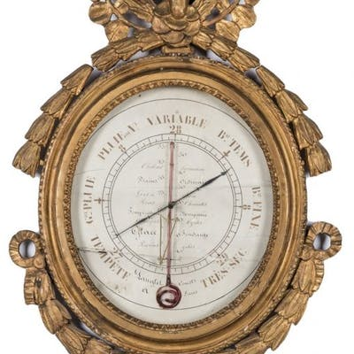 18th French Gilt Wall Barometer