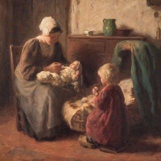 Bernard (Bernhard) Pothast O/C, The Fond Mother