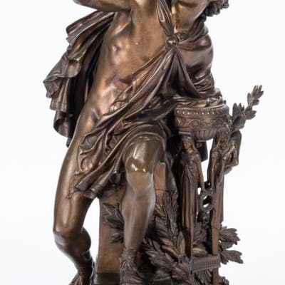 Mathurin Moreau Bronze Sculpture, Apollo