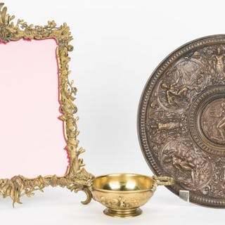 3 Bronze Items, incl. F. Barbedienne Cup