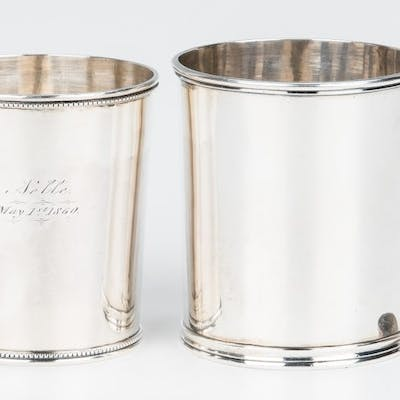2 Coin Silver Cups, Kirk & Gorham