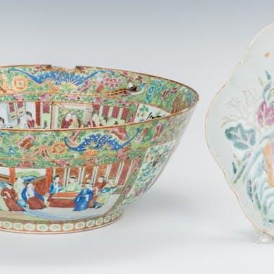 Rose Mandarin Punch Bowl and Dish
