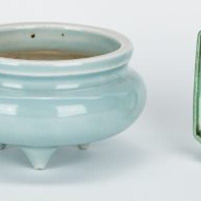 4 Chinese Monochrome Porcelain items