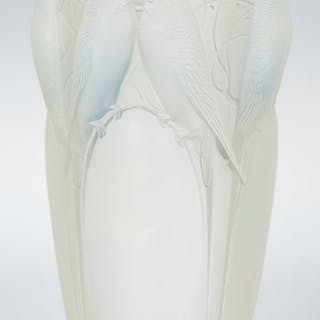 R. Lalique Opalescent Glass Ceylan Vase