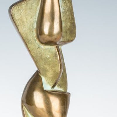 Bronze abstract sculpture by Dorothy Wilson
