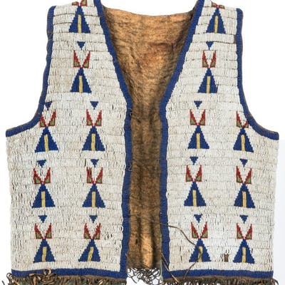 Native American Sioux Fully Beaded Vest