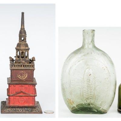 2 Banks, 1 Historical Flask & 1 Bottle