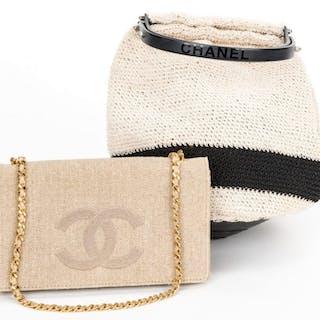 e36a78839 2 Chanel Items incl. Wallet/Crossbody & Crochet Bag