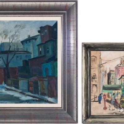 2 Street Scenes: Emile Stahl, Rose Stern