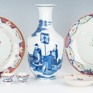 8 Chinese Porcelain Items, incl. Export