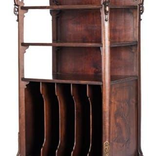 Chinese Bronze Mounted Hardwood Etagere or Cabinet