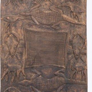 Senufo People, African Ivory Coast Carved Granary Door