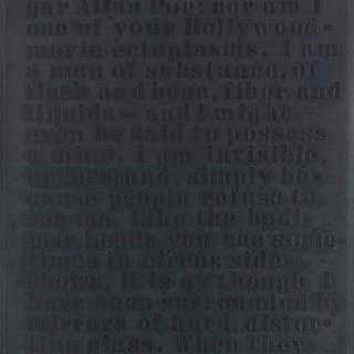 GLENN LIGON (1960 - ) Untitled