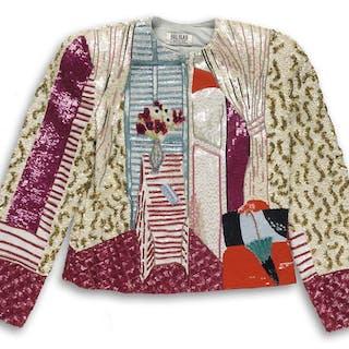 BILL BLASS (1922-2002) Sequin Matisse-style jacket