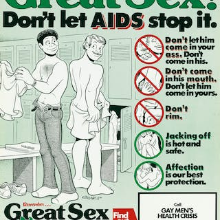 HOWARD CRUSE (1944-) Great Sex! Don't Let AIDS Stop It /...