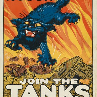 AUGUST WILLIAM HUTAF (1879-1942) TREAT 'EM ROUGH! / JOIN THE TANKS