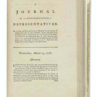 (AMERICAN REVOLUTION--1775.) A Journal of the Honorable House of Representatives