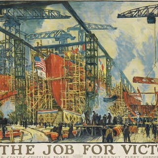 JONAS LIE (1880-1940) ON THE JOB FOR VICTORY