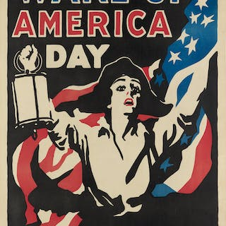 JAMES MONTGOMERY FLAGG (1870-1960) WAKE UP AMERICA DAY