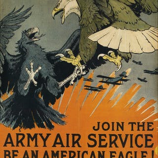 CHARLES LIVINGSTON BULL (1874-1932) JOIN THE ARMY AIR...