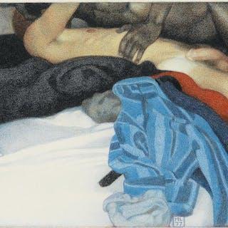 MICHAEL LEONARD (1933-) Untitled illustration for The Joy of Gay Sex