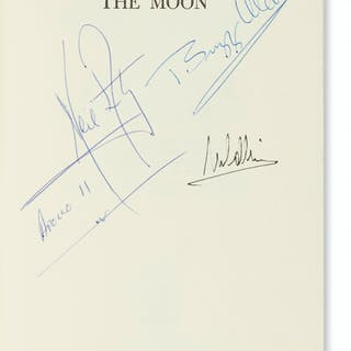 SIGNED BY ENTIRE PRIME CREW (ASTRONAUTS--APOLLO 11.) Armstrong