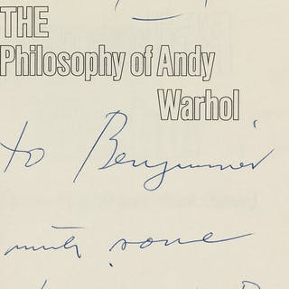 ANDY WARHOL (1928-1987) The Philosophy of Andy Warhol...
