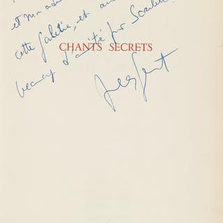 JEAN GENET (1910-1986) Chants Secrets