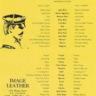 DESIGNER UNKNOWN Image Leather / Bandana Color