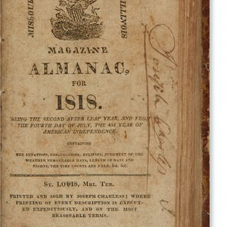 (ALMANACS.) Volume of early St