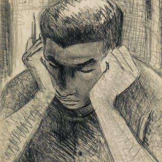 SAMELLA LEWIS (1924 - ) Untitled (Boy Reading)