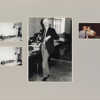 JIMMY DE SANA (1949-1990) Andy Warhol with Victor Hugo and Debbie Harry