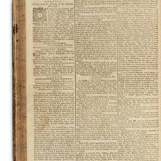 (AMERICAN REVOLUTION--1777.) Bound volume of the London Chronicle