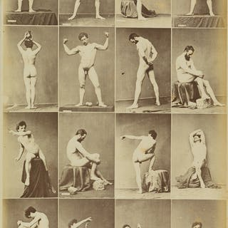 LOUIS JEAN-BAPTISTE IGOUT (1837-1881) Suite of six composite photographs