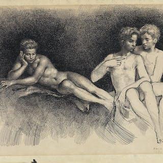 GASTON GOOR (1902-1977) Three Nudes