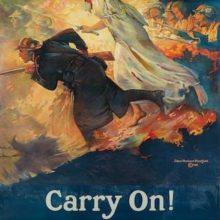 EDWIN HOWLAND BLASHFIELD (1848-1936) CARRY ON! / BUY...