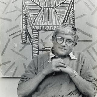 DAVID HOCKNEY (1937-) Photograph Signed