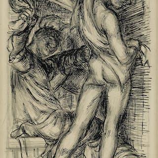 PAUL CADMUS (1904-1999) Preliminary Sketch for...