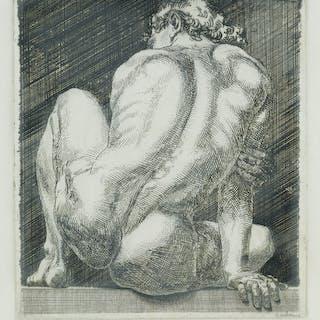 PAUL CADMUS (1904-1999) Nudo #2