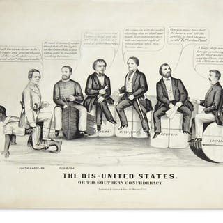 (CIVIL WAR--CONFEDERATE.) The Dis-United States