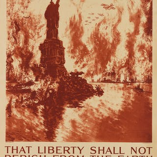 JOSEPH PENNELL (1857-1926) THAT LIBERTY SHALL NOT PERISH FROM THE EARTH