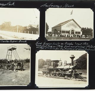(CALIFORNIA.) Scrapbook of photographs of Oakland streetcars