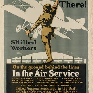 LOUIS FANCHER (1884-1944) OVER THERE! / IN THE AIR SERVICE