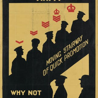 THOMAS SOMERFIELD (1876-1937) JOIN THE REGULAR ARMY / WHY NOT NOW? 1919