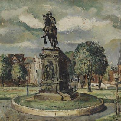 JOHN FARRAR (1928 - 1972) Untitled (Washington Circle)
