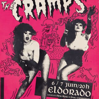 KEITH HARING (1958-1990) The Cramps / Eldorado