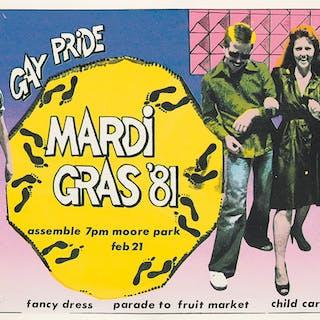 SHEONA WHITE (DATES UNKNOWN) Gay Pride Mardi Gras '81