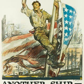 GEORGE HAND WRIGHT (1872-1951) HIP - HIP! / ANOTHER SHIP - ANOTHER VICTORY