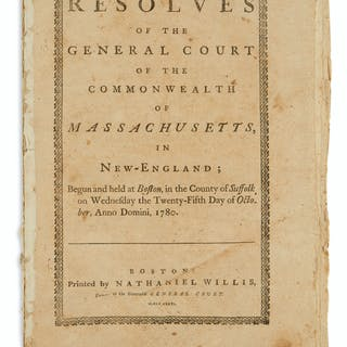 (AMERICAN REVOLUTION--1780.) Resolves of the General...